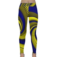 Blue Gold Dragon Spiral Classic Yoga Leggings