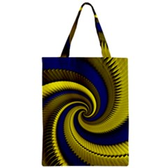Blue Gold Dragon Spiral Zipper Classic Tote Bag