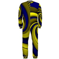 Blue Gold Dragon Spiral Onepiece Jumpsuit (men)