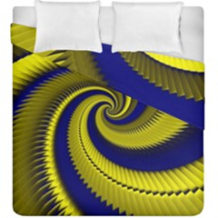 Blue Gold Dragon Spiral Duvet Cover Double Side (king Size)