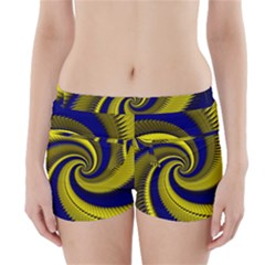 Blue Gold Dragon Spiral Boyleg Bikini Wrap Bottoms