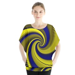 Blue Gold Dragon Spiral Blouse