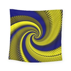 Blue Gold Dragon Spiral Square Tapestry (small)