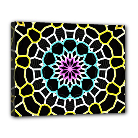 Colored Window Mandala Canvas 14  X 11  by designworld65