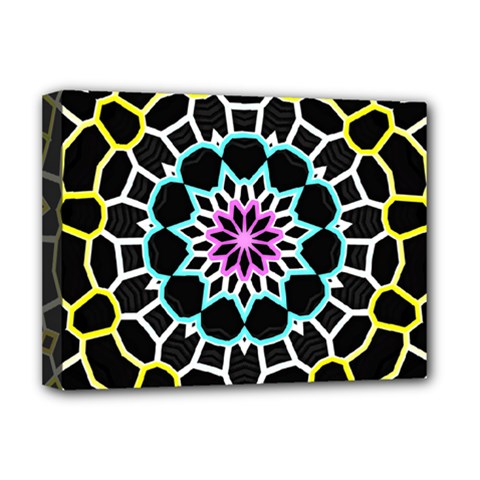 Colored Window Mandala Deluxe Canvas 16  X 12   by designworld65