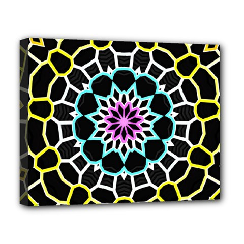 Colored Window Mandala Deluxe Canvas 20  X 16   by designworld65