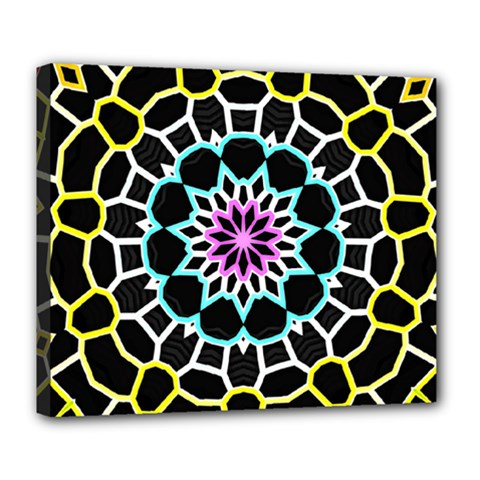 Colored Window Mandala Deluxe Canvas 24  X 20   by designworld65