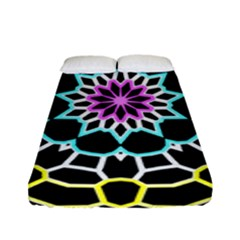 Colored Window Mandala Fitted Sheet (full/ Double Size)