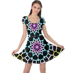 Colored Window Mandala Cap Sleeve Dress by designworld65