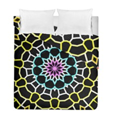 Colored Window Mandala Duvet Cover Double Side (full/ Double Size) by designworld65