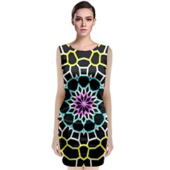 Colored Window Mandala Classic Sleeveless Midi Dress