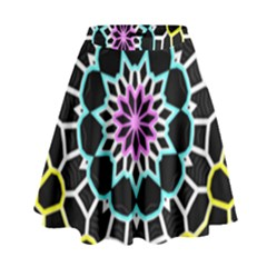 Colored Window Mandala High Waist Skirt by designworld65