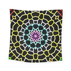 Colored Window Mandala Square Tapestry (small) by designworld65