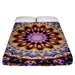 Dreamy Mandala Fitted Sheet (king Size) by designworld65