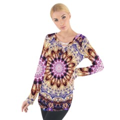Dreamy Mandala Tie Up Tee