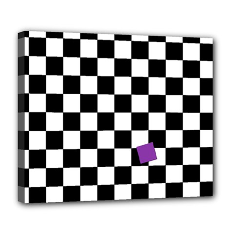 Dropout Purple Check Deluxe Canvas 24  X 20   by designworld65