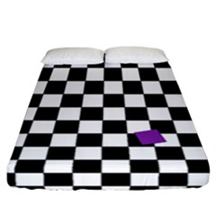 Dropout Purple Check Fitted Sheet (california King Size) by designworld65