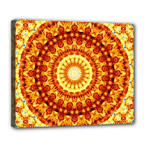 Powerful Love Mandala Deluxe Canvas 24  X 20   by designworld65