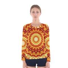 Powerful Love Mandala Women s Long Sleeve Tee by designworld65