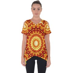 Powerful Love Mandala Cut Out Side Drop Tee