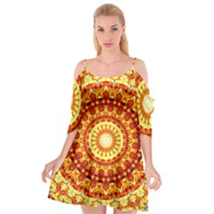 Powerful Love Mandala Cutout Spaghetti Strap Chiffon Dress by designworld65