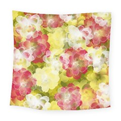 Flower Power Square Tapestry (large) by designworld65