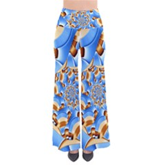 Gold Blue Bubbles Spiral Pants by designworld65