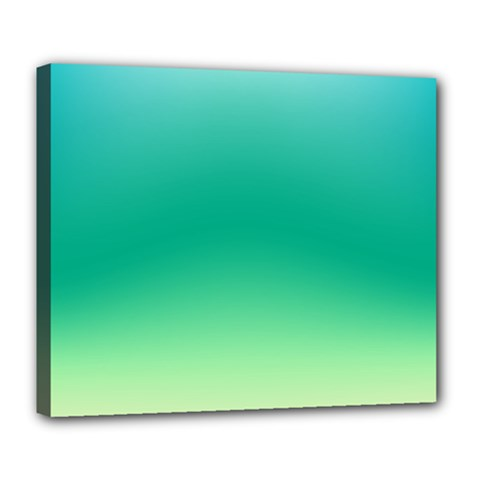 Sealife Green Gradient Deluxe Canvas 24  X 20   by designworld65