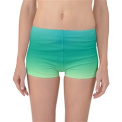 Sealife Green Gradient Reversible Boyleg Bikini Bottoms by designworld65