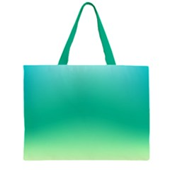Sealife Green Gradient Zipper Large Tote Bag by designworld65