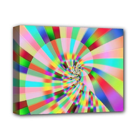 Irritation Funny Crazy Stripes Spiral Deluxe Canvas 14  X 11  by designworld65