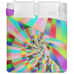 Irritation Funny Crazy Stripes Spiral Duvet Cover Double Side (california King Size) by designworld65