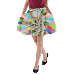 Irritation Funny Crazy Stripes Spiral A Line Pocket Skirt by designworld65