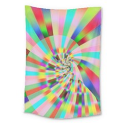Irritation Funny Crazy Stripes Spiral Large Tapestry by designworld65