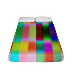 Multicolored Irritation Stripes Fitted Sheet (full/ Double Size) by designworld65