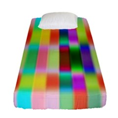 Multicolored Irritation Stripes Fitted Sheet (single Size) by designworld65