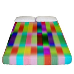 Multicolored Irritation Stripes Fitted Sheet (california King Size) by designworld65