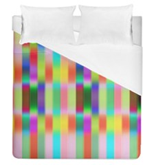 Multicolored Irritation Stripes Duvet Cover (queen Size) by designworld65
