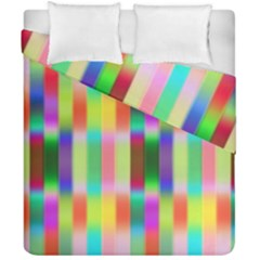 Multicolored Irritation Stripes Duvet Cover Double Side (california King Size) by designworld65