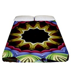 Love Energy Mandala Fitted Sheet (king Size) by designworld65