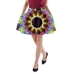 Love Energy Mandala A Line Pocket Skirt by designworld65