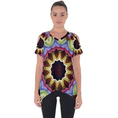 Love Energy Mandala Cut Out Side Drop Tee