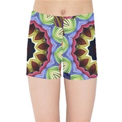 Love Energy Mandala Kids Sports Shorts by designworld65