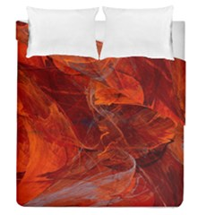 Swirly Love In Deep Red Duvet Cover Double Side (queen Size) by designworld65