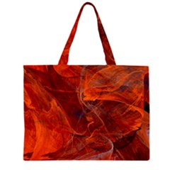 Swirly Love In Deep Red Zipper Large Tote Bag by designworld65
