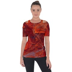 Swirly Love In Deep Red Short Sleeve Top