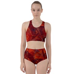 Swirly Love In Deep Red Bikini Swimsuit Spa Swimsuit  by designworld65