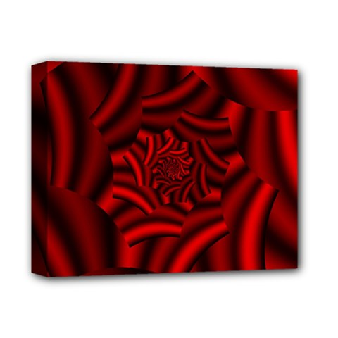 Metallic Red Rose Deluxe Canvas 14  X 11  by designworld65