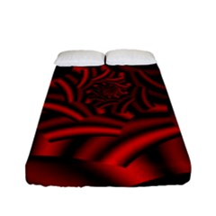 Metallic Red Rose Fitted Sheet (full/ Double Size)