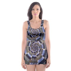 Midnight Crazy Dart Skater Dress Swimsuit